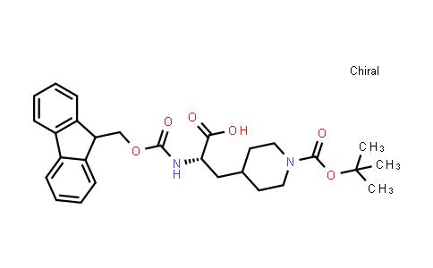 (S)-2-((((9H-Fluoren-9-yl)methoxy)carbonyl)amino)-3-(1-(tert-butoxycarbonyl)piperidin-4-yl)propanoic acid