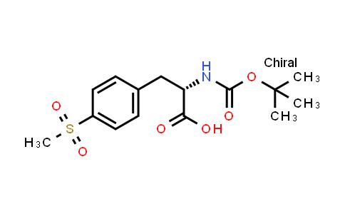 (S)-2-(tert-butoxycarbonylamino)-3-(4-(methylsulfonyl)phenyl