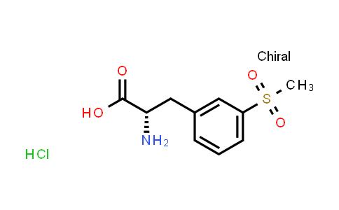 (S)-2-Amino-3-(3-methanesulfonyl-phenyl)-propionic acid hydrochloride