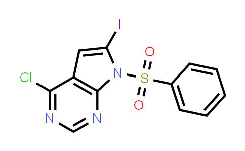 4-Chloro-6-iodo-7-phenylsulfonyl-7H-pyrrolo(2,3-d)pyrimidine