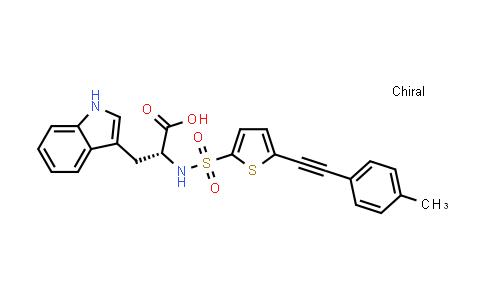 (R)-3-(1H-Indol-3-yl)-2-(5-p-tolylethynyl-thiophene-2-sulfonylamino)-propionic acid