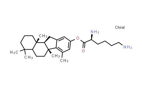 (2S)-(6aR,11aR,11bS)-4,4,6a,7,11b-Pentamethyl-2,3,4,4a,5,6,6a,11,11a,11b-decahydro-1H-benzo[a]fluoren-9-yl 2,6-diaminohexanoate