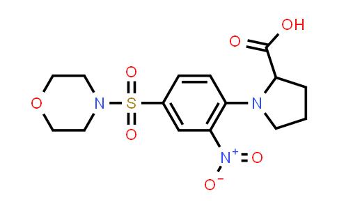1-(4-(Morpholinosulfonyl)-2-nitrophenyl)pyrrolidine-2-carboxylic acid