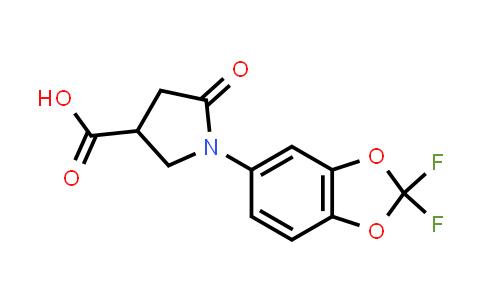 1-(2,2-Difluorobenzo[d][1,3]dioxol-5-yl)-5-oxopyrrolidine-3-carboxylic acid