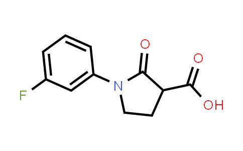 1-(3-Fluorophenyl)-2-oxopyrrolidine-3-carboxylic acid