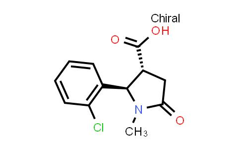 (2R,3R)-2-(2-Chlorophenyl)-1-methyl-5-oxopyrrolidine-3-carboxylic acid