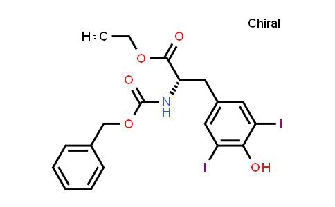 (S)-Ethyl 2-(((benzyloxy)carbonyl)amino)-3-(4-hydroxy-3,5-diiodophenyl)propanoate
