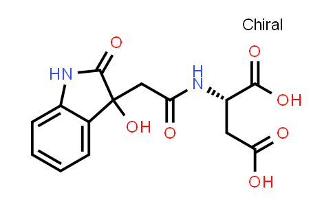 (2S)-2-(2-(3-Hydroxy-2-oxoindolin-3-yl)acetamido)succinic acid