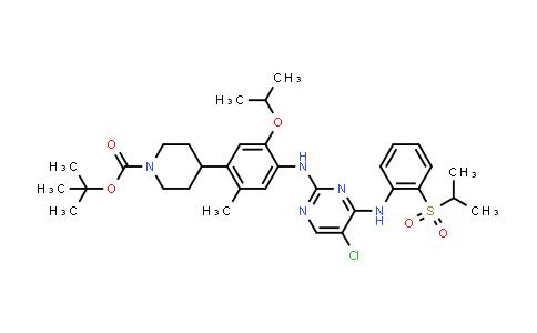 tert-Butyl 4-(4-((5-chloro-4-((2-(isopropylsulfonyl)phenyl)amino)pyrimidin-2-yl)amino)-5-isopropoxy-2-methylphenyl)piperidine-1-carboxylate