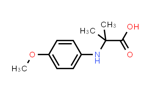 2-((4-Methoxyphenyl)amino)-2-methylpropanoic acid