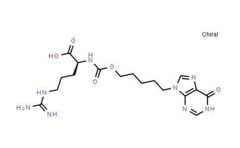 (S)-5-Guanidino-2-((((5-(6-oxo-1H-purin-9(6H)-yl)pentyl)oxy)carbonyl)amino)pentanoic acid