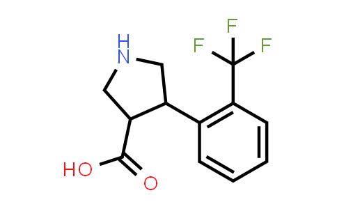 4-(2-(Trifluoromethyl)phenyl)pyrrolidine-3-carboxylic acid
