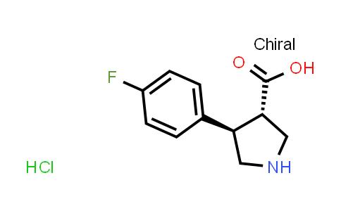 (3S,4R)-4-(4-Fluorophenyl)pyrrolidine-3-carboxylic acid hydrochloride