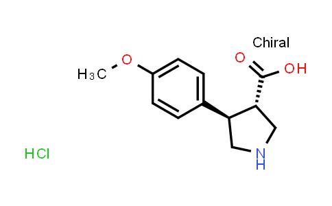 (3S,4R)-4-(4-Methoxyphenyl)pyrrolidine-3-carboxylic acid hydrochloride