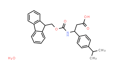 3-((((9H-Fluoren-9-yl)methoxy)carbonyl)amino)-3-(4-isopropylphenyl)propanoic acid hydrate