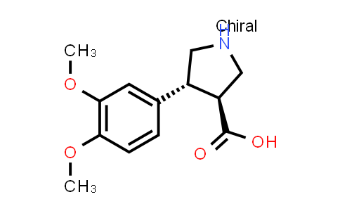 (3S,4R)-4-(3,4-Dimethoxyphenyl)pyrrolidine-3-carboxylic acid