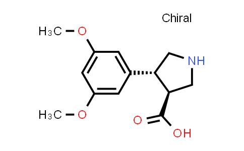 (3S,4R)-4-(3,5-Dimethoxyphenyl)pyrrolidine-3-carboxylic acid