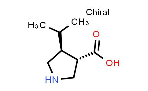 (3S,4S)-4-Isopropylpyrrolidine-3-carboxylic acid