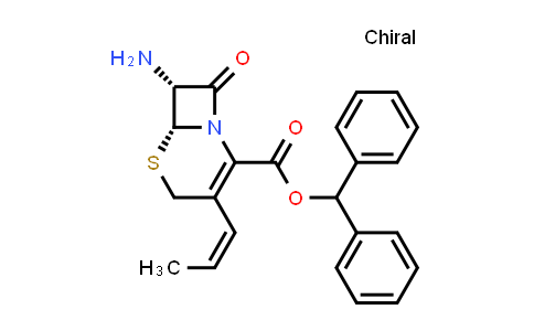 (6R,7R)-Benzhydryl 7-amino-8-oxo-3-((Z)-prop-1-en-1-yl)-5-thia-1-azabicyclo[4.2.0]oct-2-ene-2-carboxylate