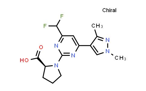 (S)-1-(4-(Difluoromethyl)-6-(1,3-dimethyl-1H-pyrazol-4-yl)pyrimidin-2-yl)pyrrolidine-2-carboxylic acid