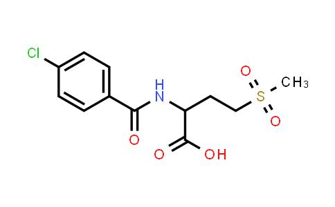 2-(4-Chlorobenzamido)-4-(methylsulfonyl)butanoic acid