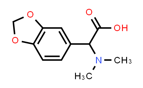 2-(Benzo[d][1,3]dioxol-5-yl)-2-(dimethylamino)acetic acid