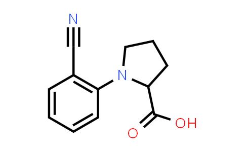 1-(2-Cyanophenyl)pyrrolidine-2-carboxylic acid