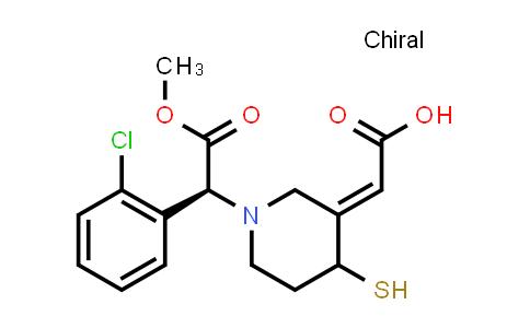 2-(1-((S)-1-(2-Chlorophenyl)-2-methoxy-2-oxoethyl)-4-mercaptopiperidin-3-ylidene)acetic acid