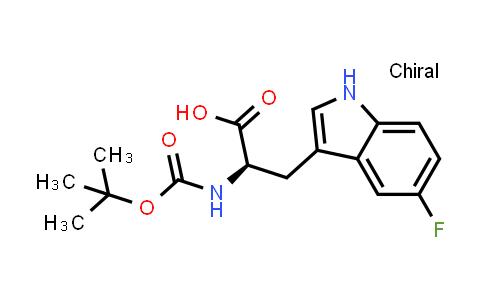 (R)-2-((tert-Butoxycarbonyl)amino)-3-(5-fluoro-1H-indol-3-yl)propanoic acid
