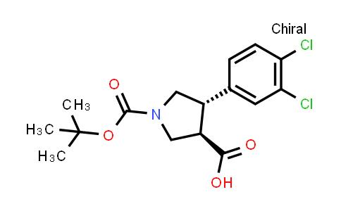 (3R,4S)-rel-1-(tert-Butoxycarbonyl)-4-(3,4-dichlorophenyl)pyrrolidine-3-carboxylic acid