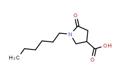 1-Hexyl-5-oxopyrrolidine-3-carboxylic acid