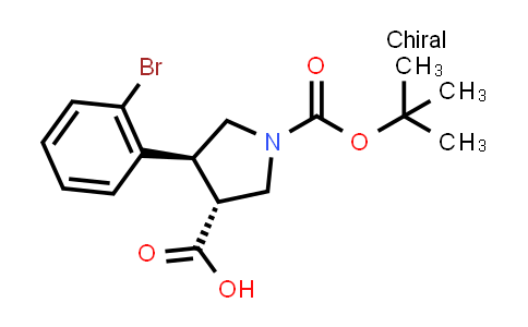 (3R,4S)-4-(2-Bromophenyl)-1-(tert-butoxycarbonyl)pyrrolidine-3-carboxylic acid