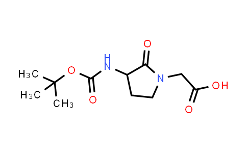 2-(3-((tert-Butoxycarbonyl)amino)-2-oxopyrrolidin-1-yl)acetic acid