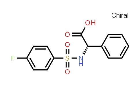 (S)-2-(4-Fluorophenylsulfonamido)-2-phenylacetic acid