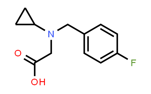 2-(Cyclopropyl(4-fluorobenzyl)amino)acetic acid