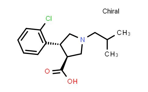 (3S,4R)-4-(2-Chlorophenyl)-1-isobutylpyrrolidine-3-carboxylic acid