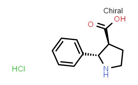 (2S,3S)-2-Phenylpyrrolidine-3-carboxylic acid hydrochloride