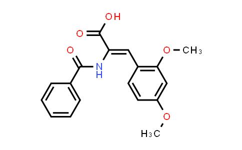 (Z)-2-Benzamido-3-(2,4-dimethoxyphenyl)acrylic acid