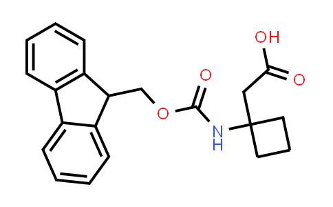 2-(1-((((9H-Fluoren-9-yl)methoxy)carbonyl)amino)cyclobutyl)acetic acid