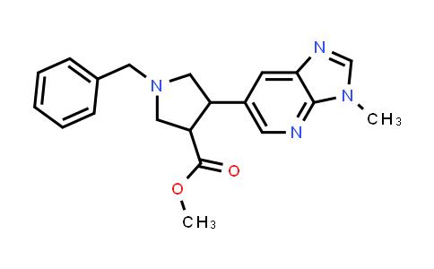 Methyl 1-benzyl-4-(3-methyl-3H-imidazo[4,5-b]pyridin-6-yl)pyrrolidine-3-carboxylate