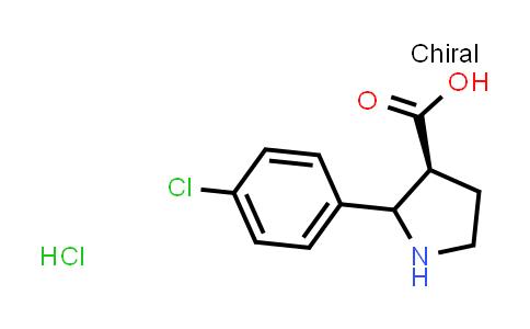(3S)-2-(4-Chlorophenyl)pyrrolidine-3-carboxylic acid hydrochloride