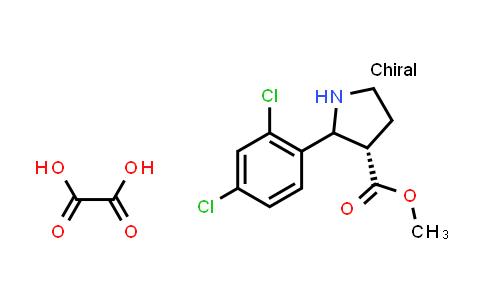 (3S)-Methyl 2-(2,4-dichlorophenyl)pyrrolidine-3-carboxylate oxalate