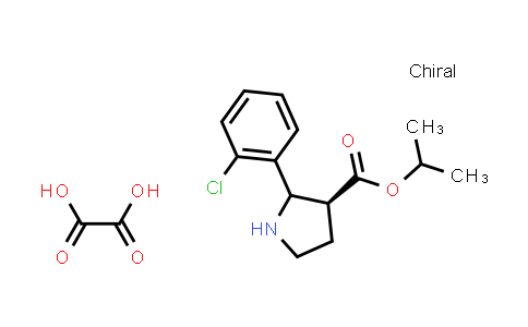 (3S)-Isopropyl 2-(2-chlorophenyl)pyrrolidine-3-carboxylate oxalate