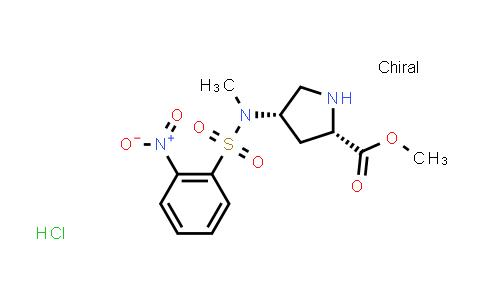 (2S,4S)-Methyl 4-(N-methyl-2-nitrophenylsulfonamido)pyrrolidine-2-carboxylate hydrochloride