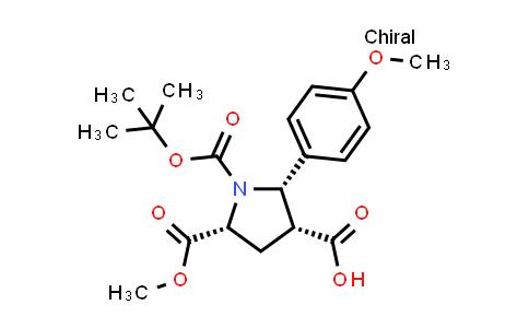(2S,3R,5R)-1-(tert-Butoxycarbonyl)-5-(methoxycarbonyl)-2-(4-methoxyphenyl)pyrrolidine-3-carboxylic acid