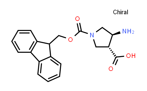 trans-4-Aminopyrrolidine-1,3-dicarboxylic acid 1-(9H-fluoren-9-ylmethyl) ester
