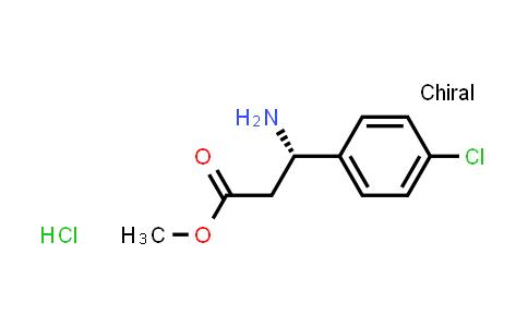 (S)-Methyl 3-amino-3-(4-chlorophenyl)propanoate hydrochloride