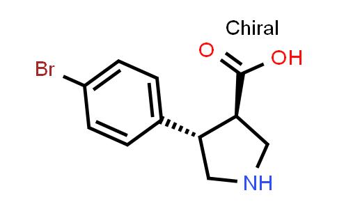 (3R,4S)-rel-4-(4-Bromophenyl)pyrrolidine-3-carboxylic acid