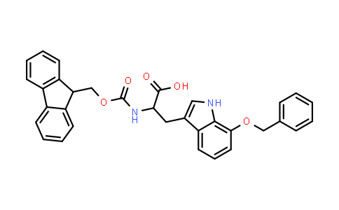 2-((((9H-Fluoren-9-yl)methoxy)carbonyl)amino)-3-(7-(benzyloxy)-1H-indol-3-yl)propanoic acid
