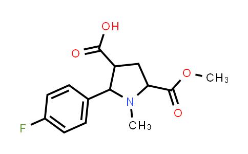 2-(4-Fluorophenyl)-5-(methoxycarbonyl)-1-methylpyrrolidine-3-carboxylic acid
